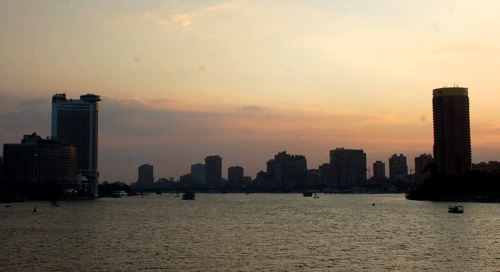 Egyptian city view from the sea