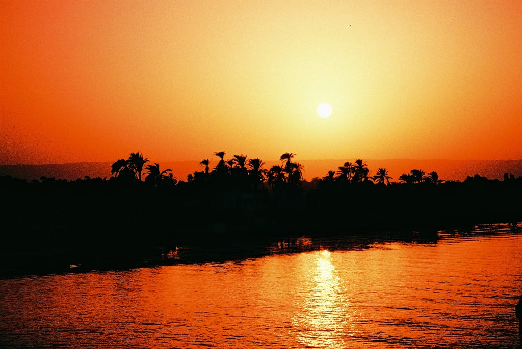 sunset shining on sea