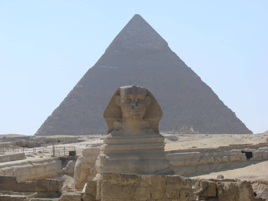 huge pyramid in the desert