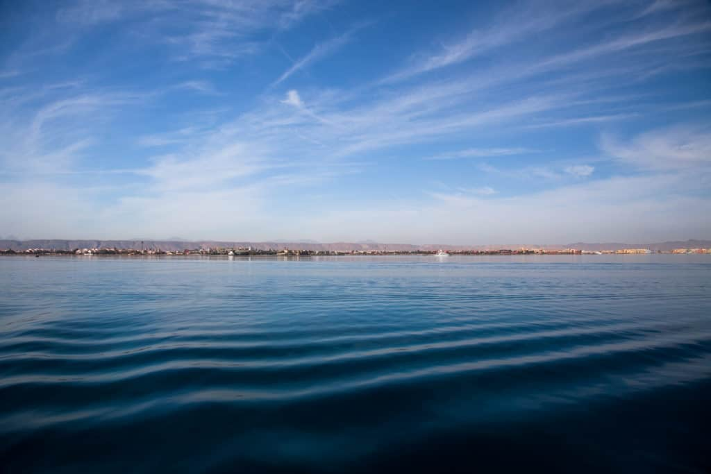 View of El Gouna from the Red Sea