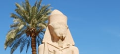 Statue of Ramses Ii at Karnak Temple Luxor Egypt