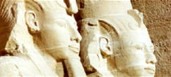 Carved Statues of Luxor Temple