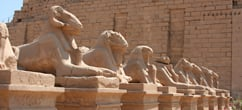 view of Karnak Temple Complex statues